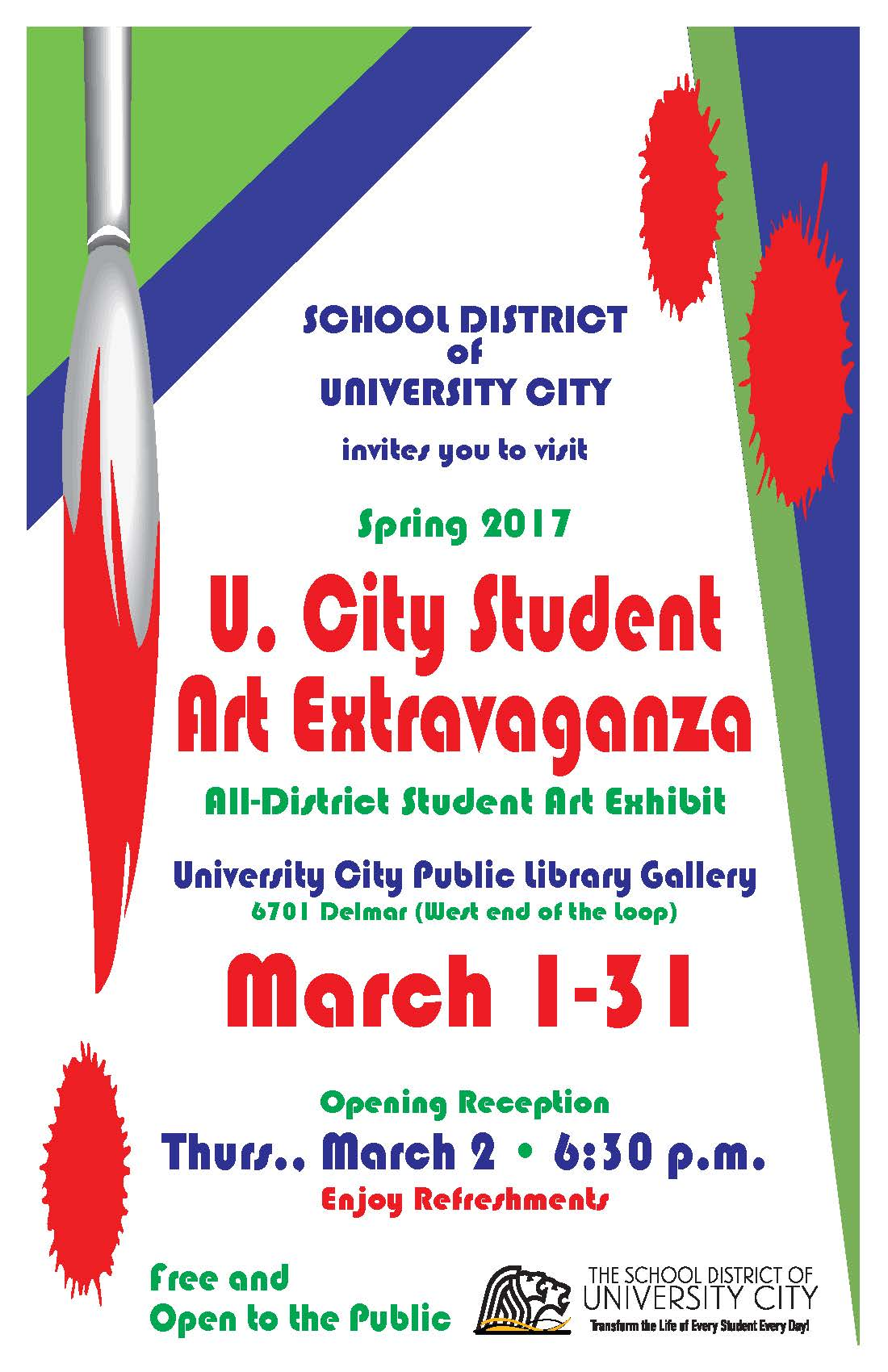 Student Art Exhibit Open 'til March 31