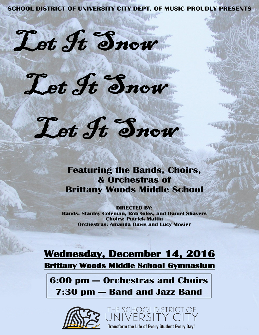 Middle School Winter Concert  - Dec. 14