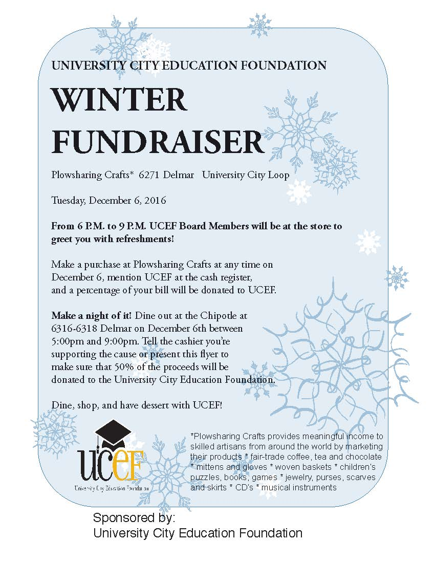 UCEF Fundraising events - Dec. 6