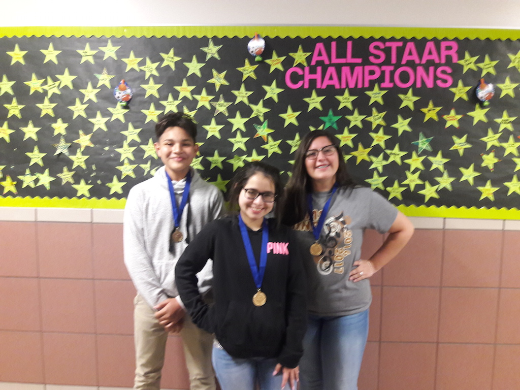 TPSP Winners in 7th Grade-Aidan Garcia, Allyson Rodriguez and Celeste Torres
