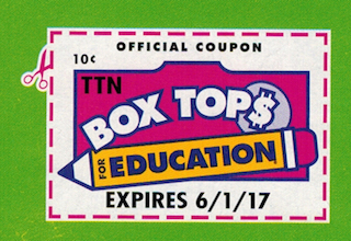 Parents, please collect your Box Tops for Education and bring them to the school.