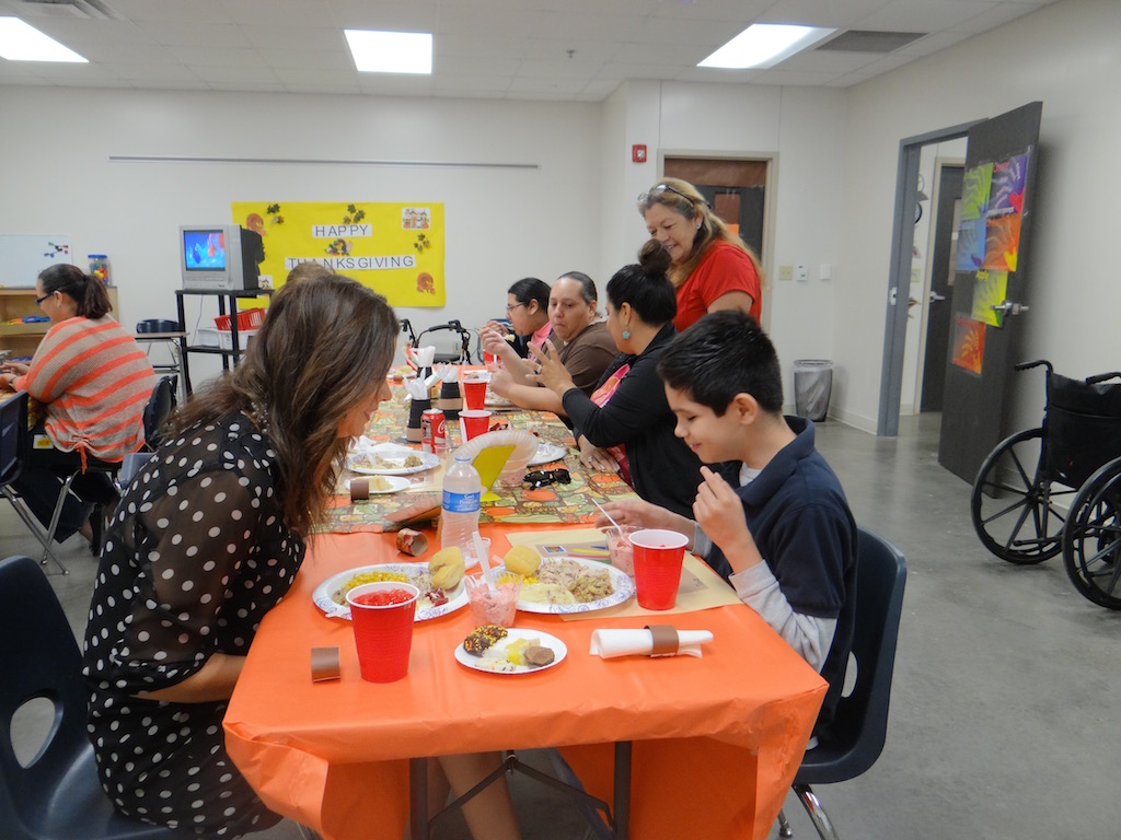 Life Skills invited guests for a Thanksgiving Meal.