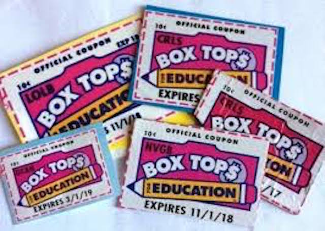 Please collect box tops and bring to the school.