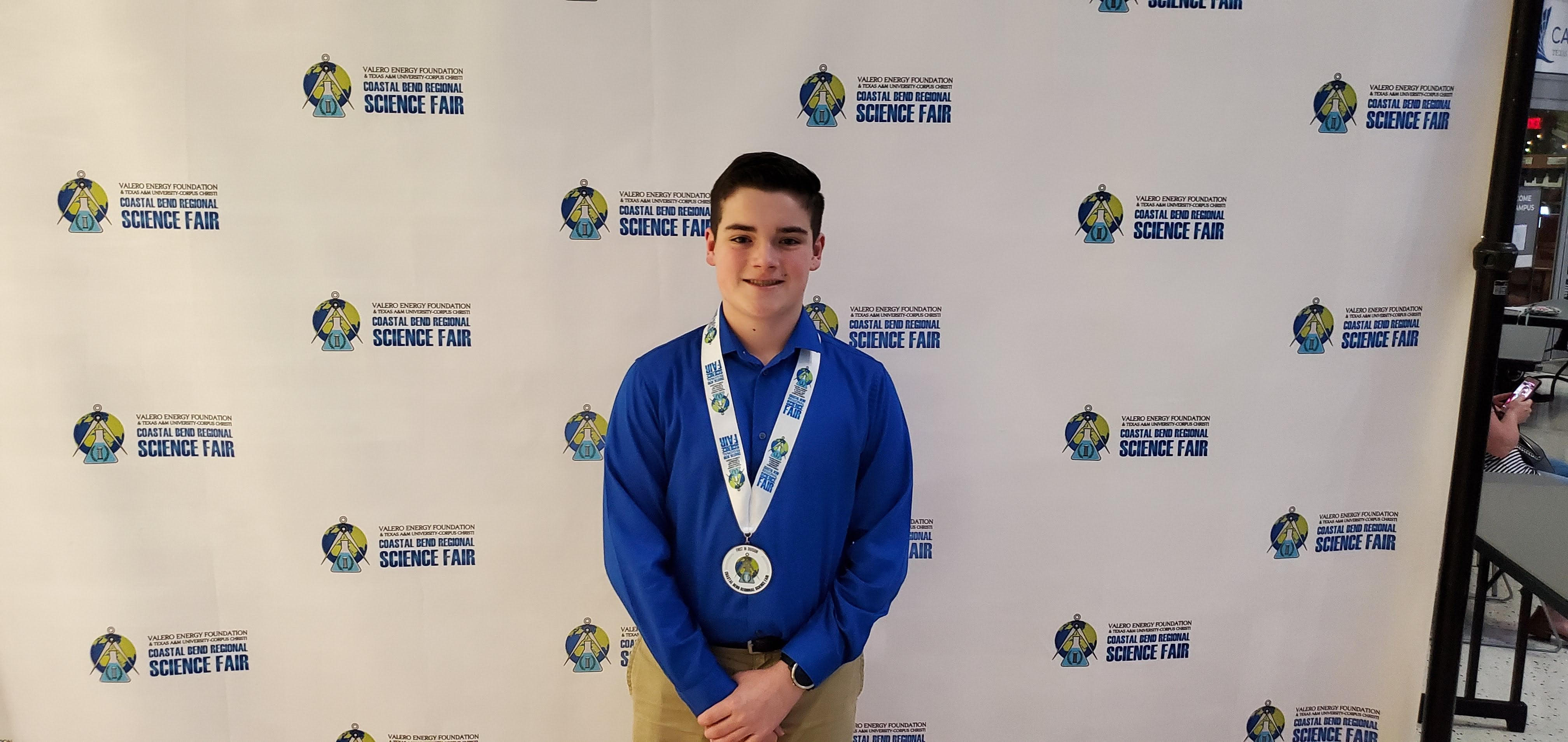 8th Grader Lucas Walker advances to state Science Fair