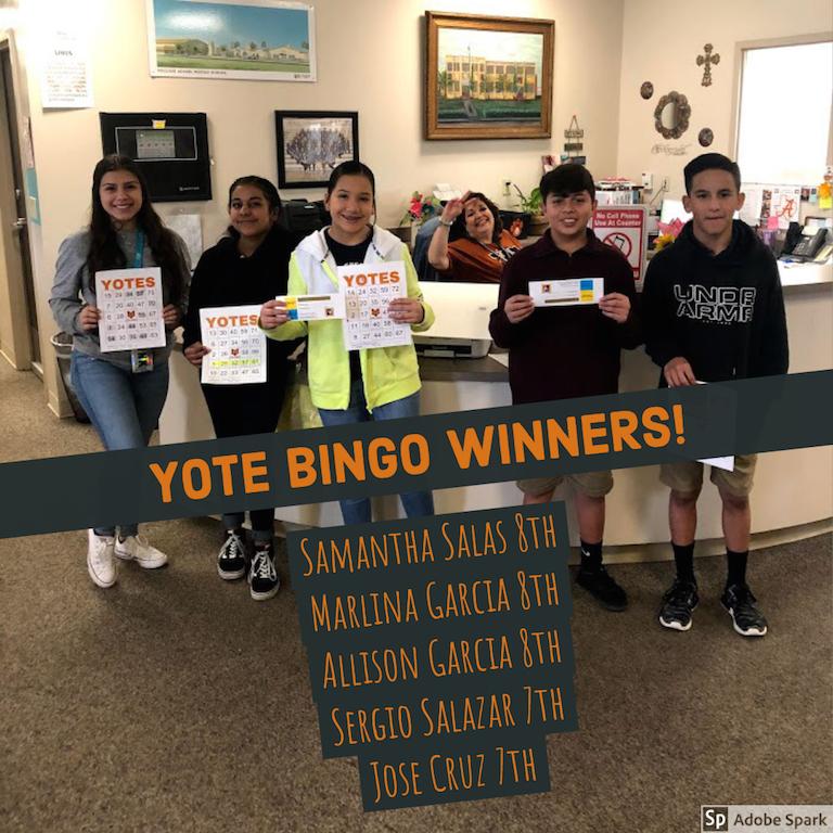 Attendance Bingo Winners