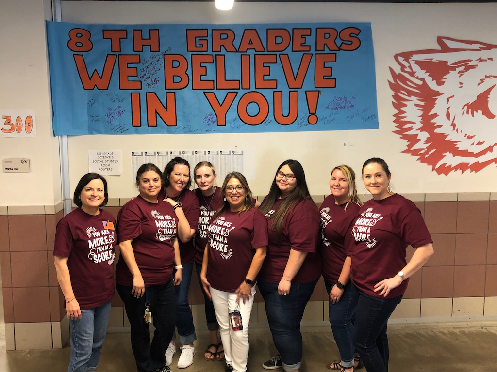 300 Wing showing support during STAAR test