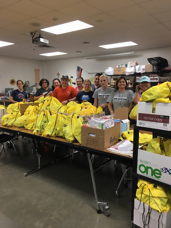 WAMS Staff made a total of 88 care packages for the hurricane evacuees staying in our area.