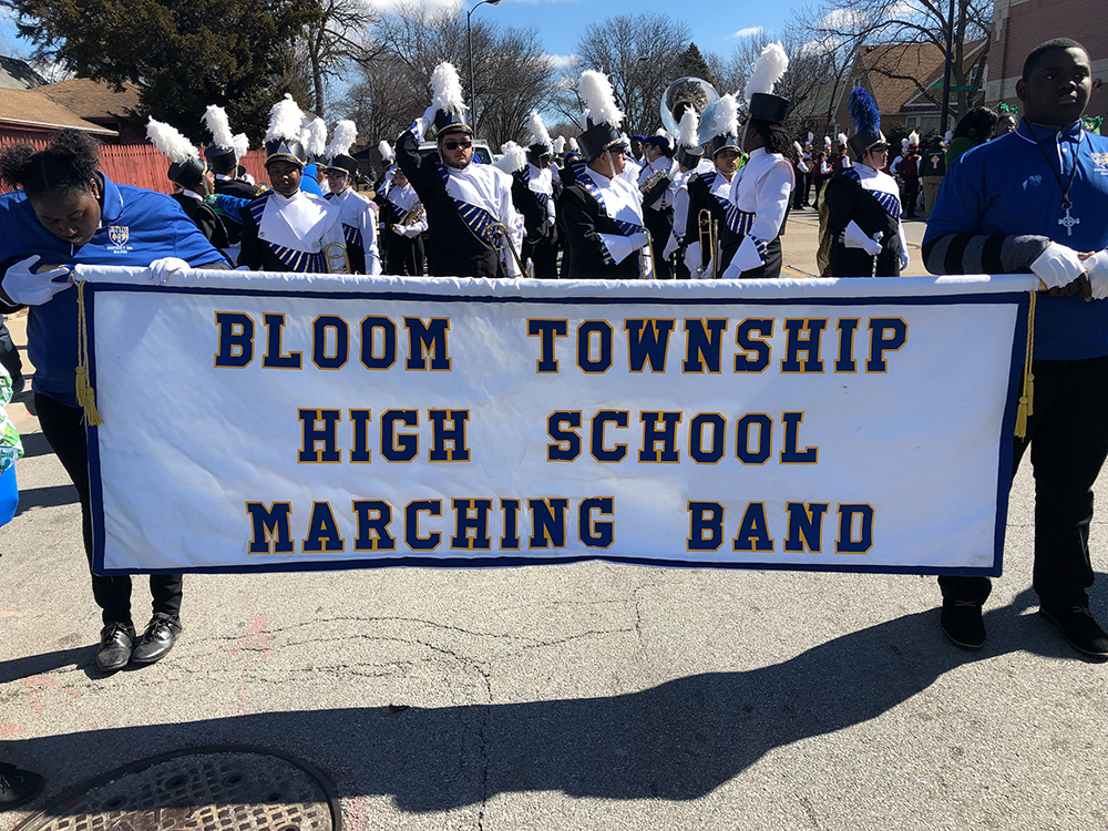 Photos: Bloom 206 Band Plays the South Side Irish Parade