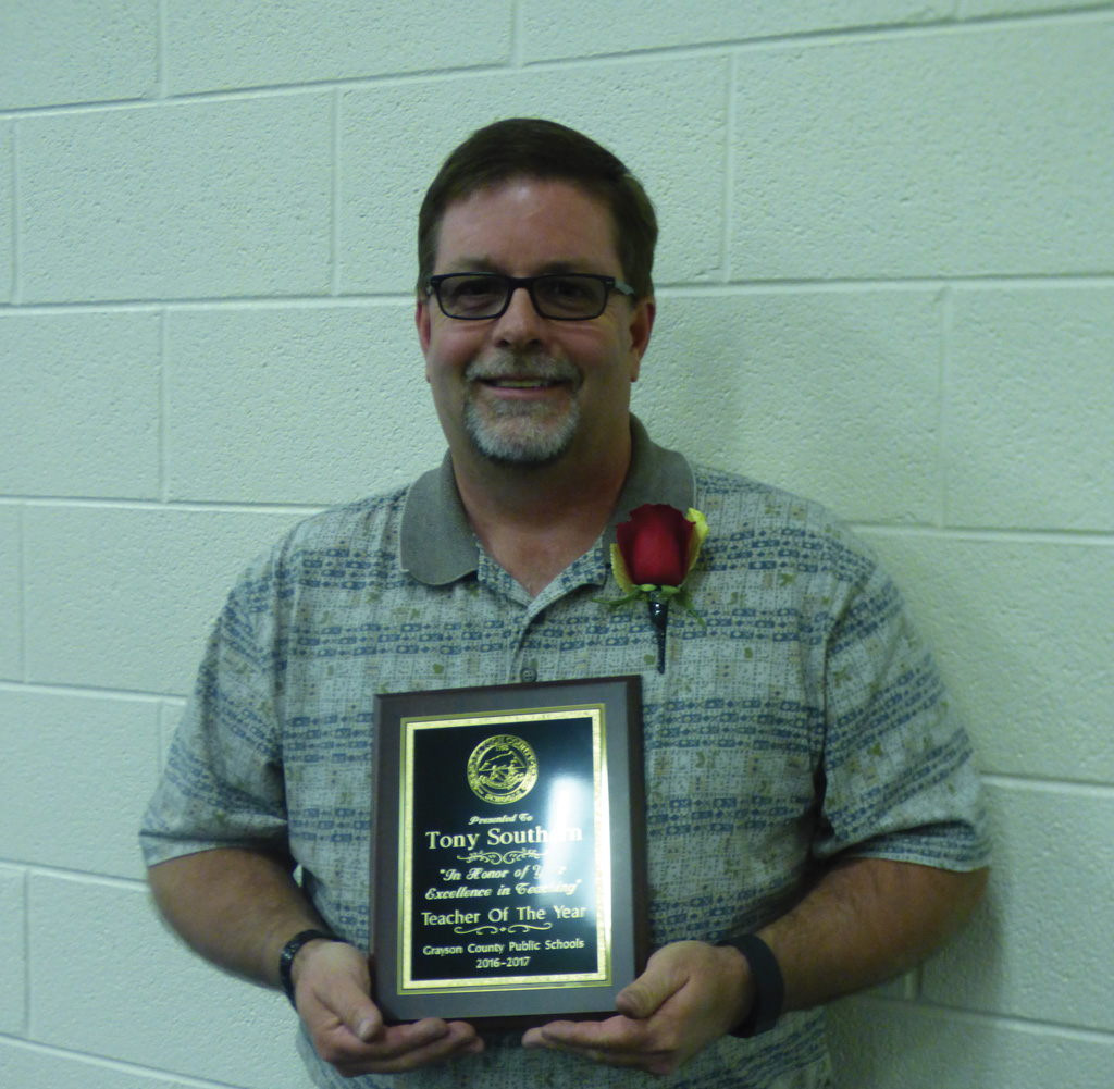Congratulations Tony Southern, Teacher of the Year