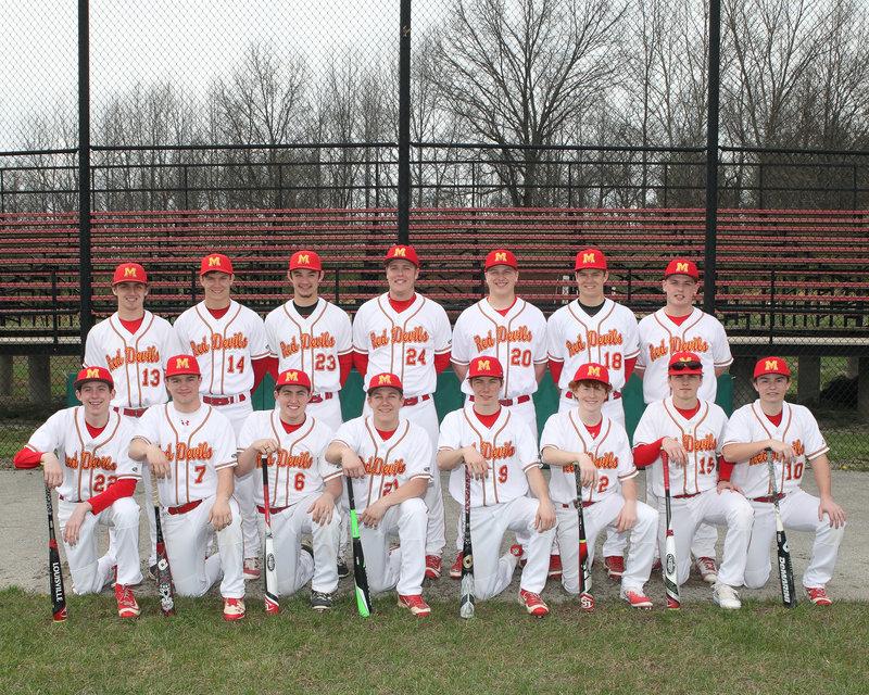 2016-17 MHS Red Devils Varsity Baseball Team