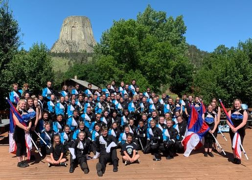 Band Performs at Devils Tower