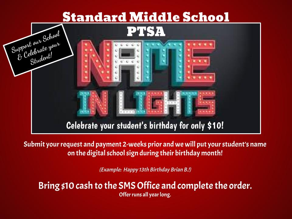 PTSA Year-Long Fundraiser