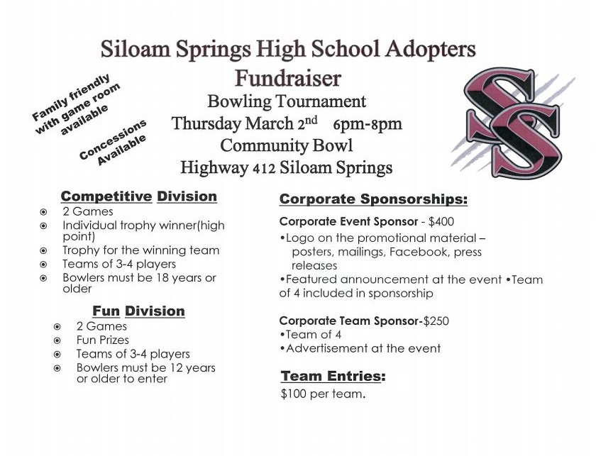 "For Sponsorship info visit the SSHS Adopters file in the ""Announcements"" Block...."