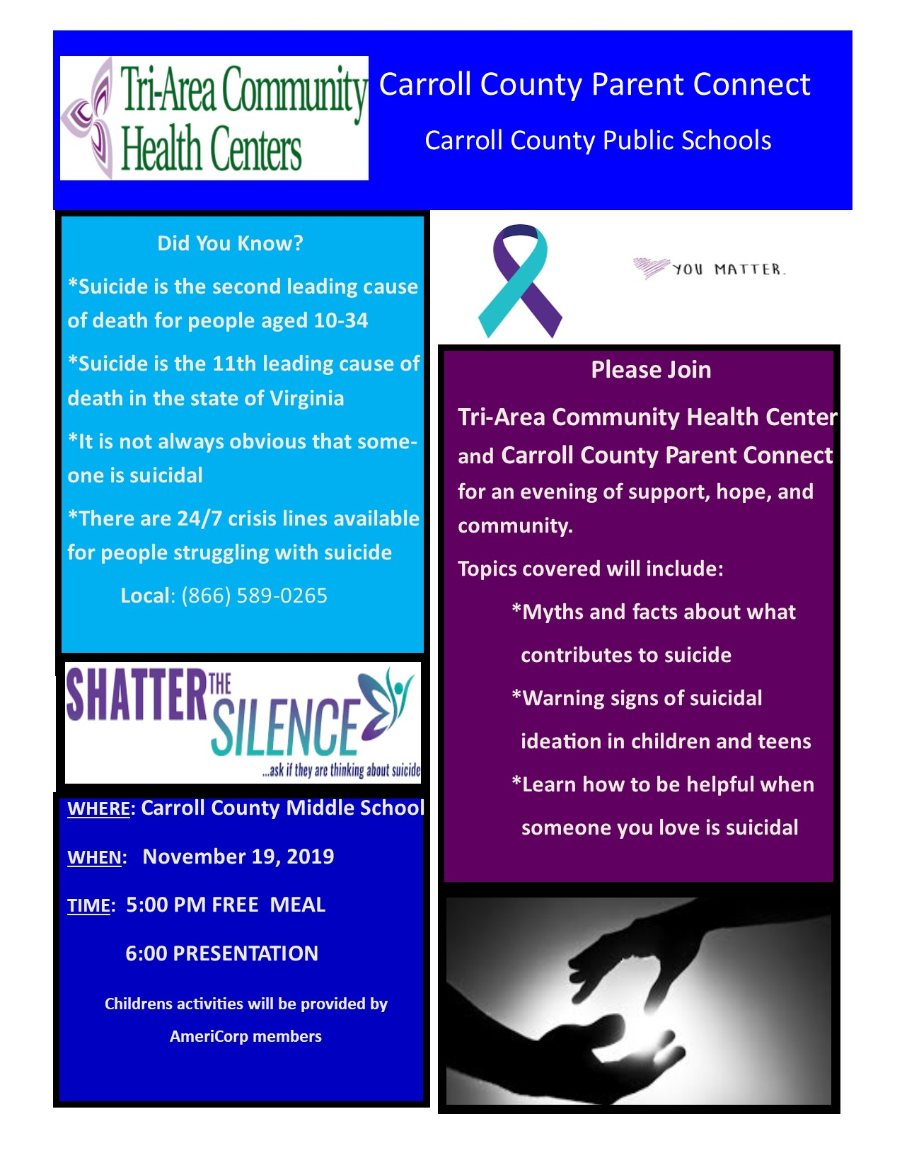 Parent Connect Event to Focus on Suicide Prevention