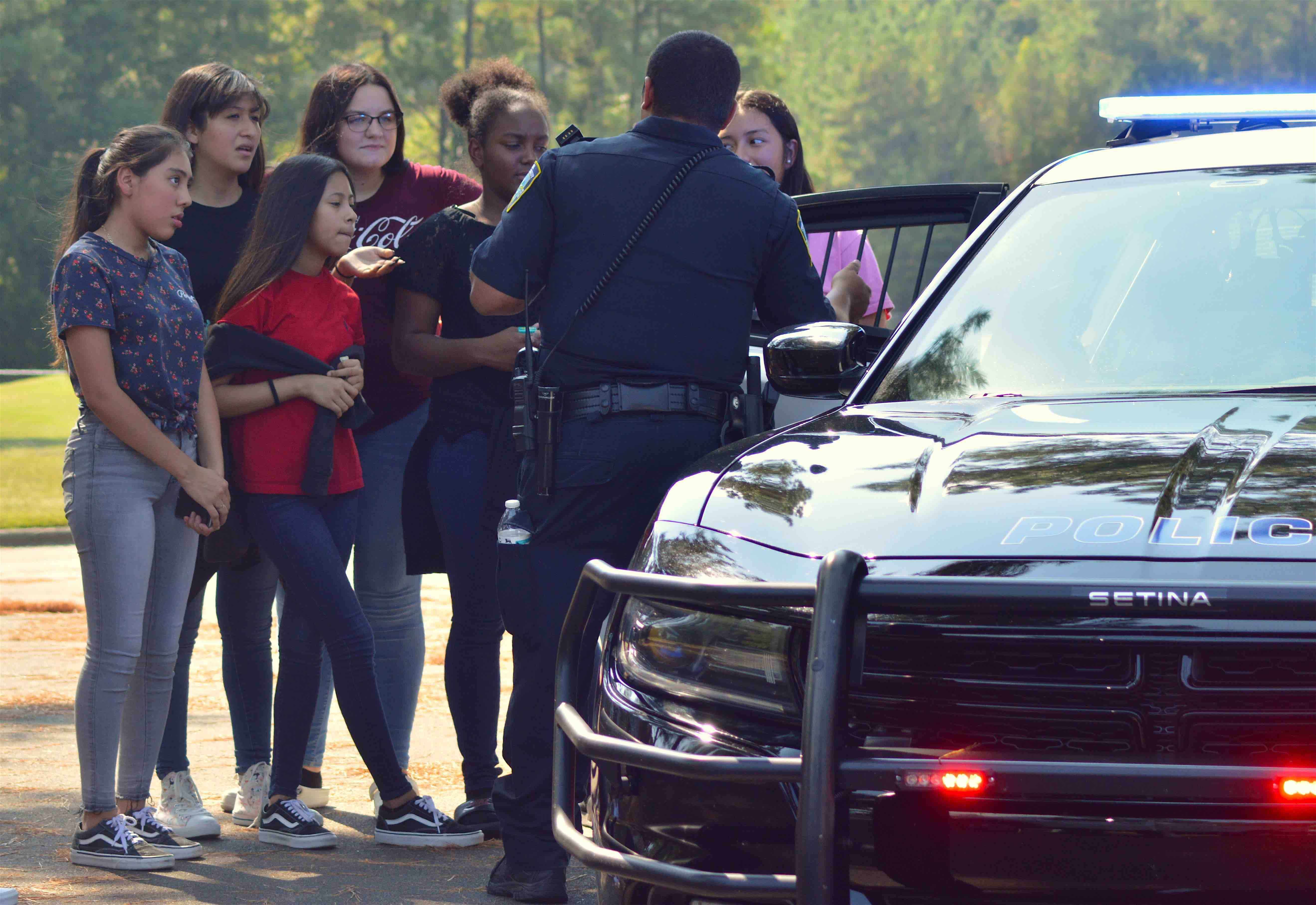 Students meeting with Butner Public Safety