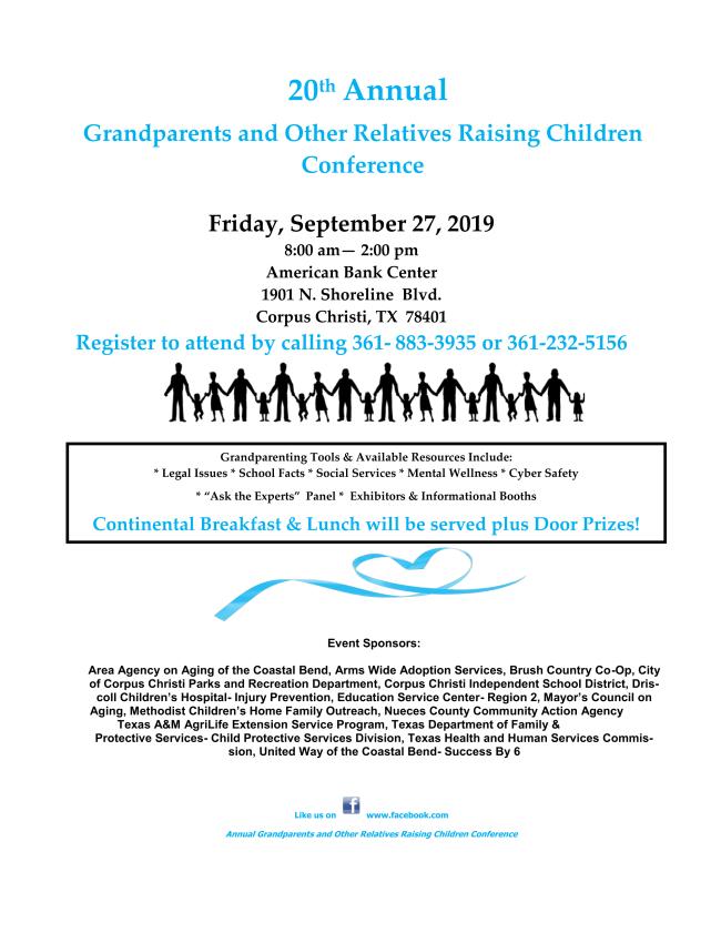 Grandparent Conference on Sept. 27