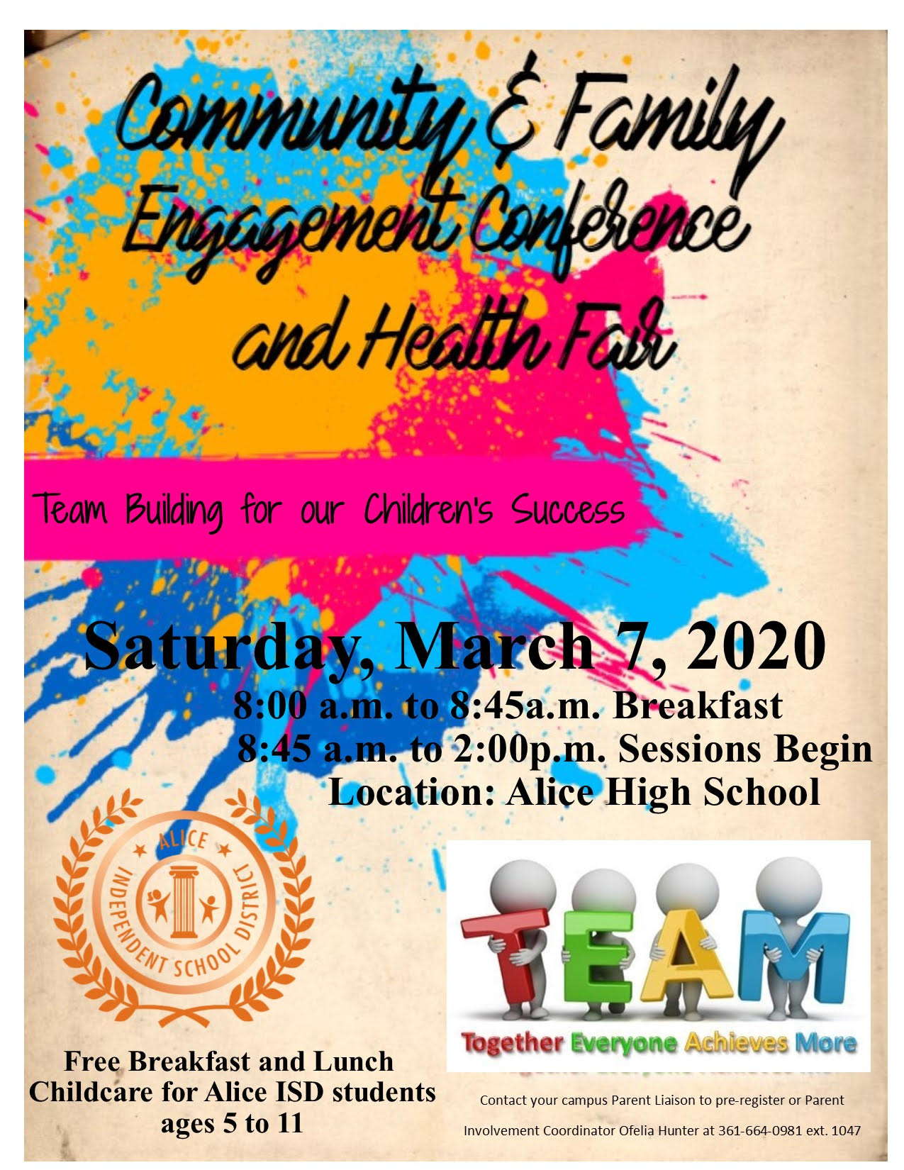 Community & Family Engagement Conference and Health Fair