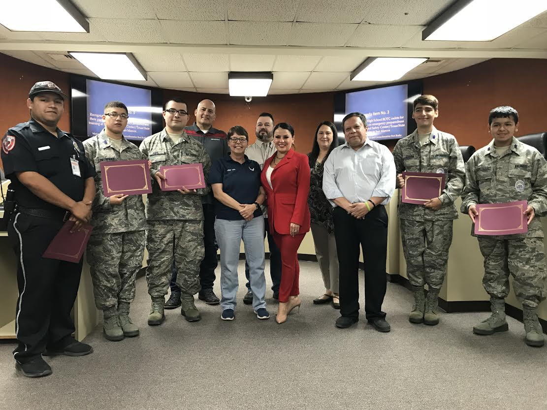 Air Force ROTC recognition by Mayor and Council