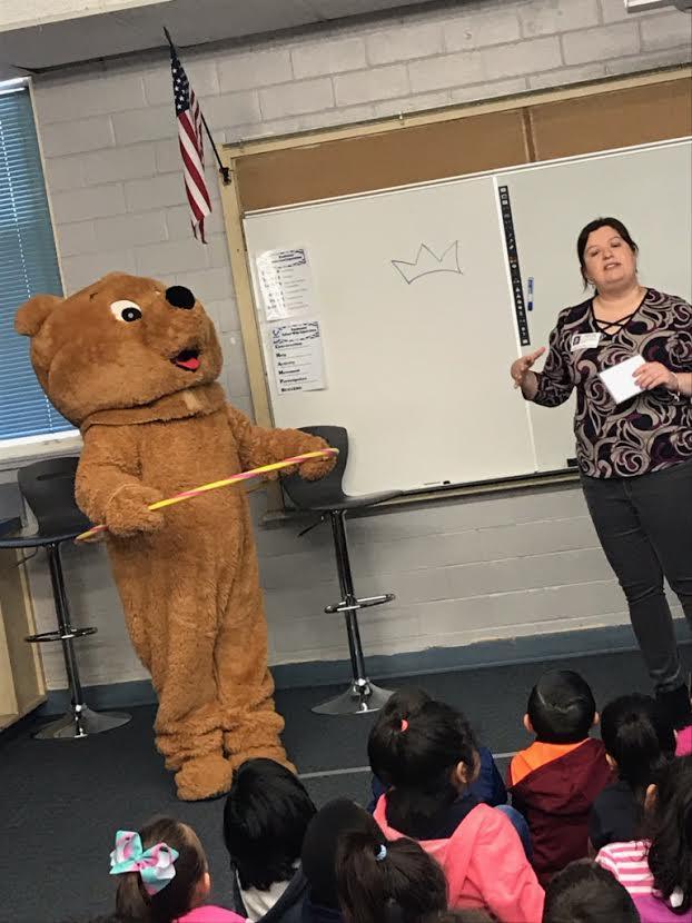 Safety Bear Presentation at Salazar