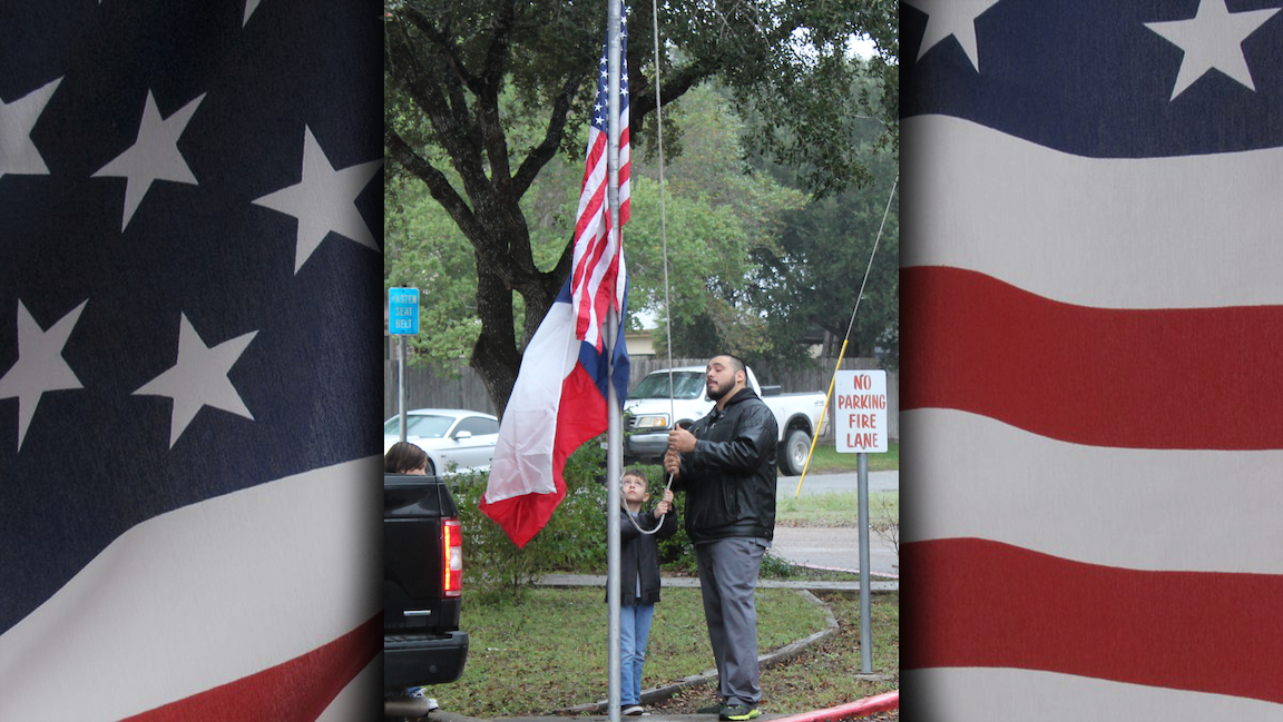 Flag raising at Hillcrest