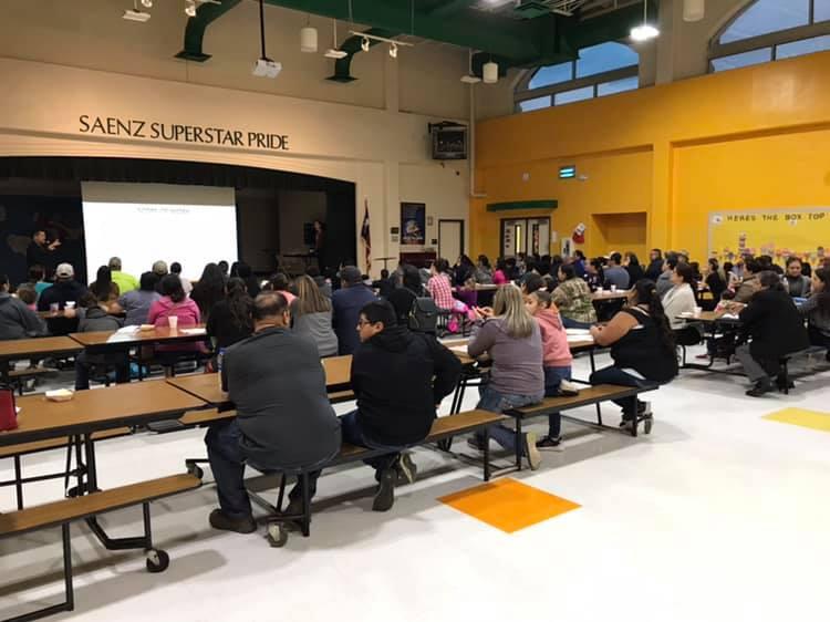 Saenz Elementary Parent Bond Session