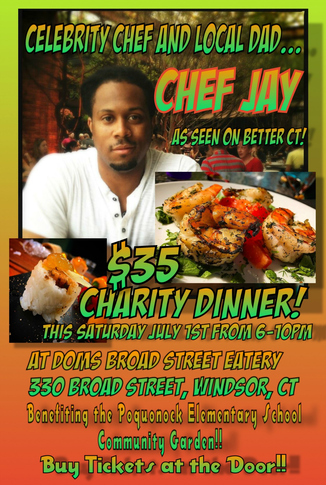 Join us Saturday 7/1 at Dom's!