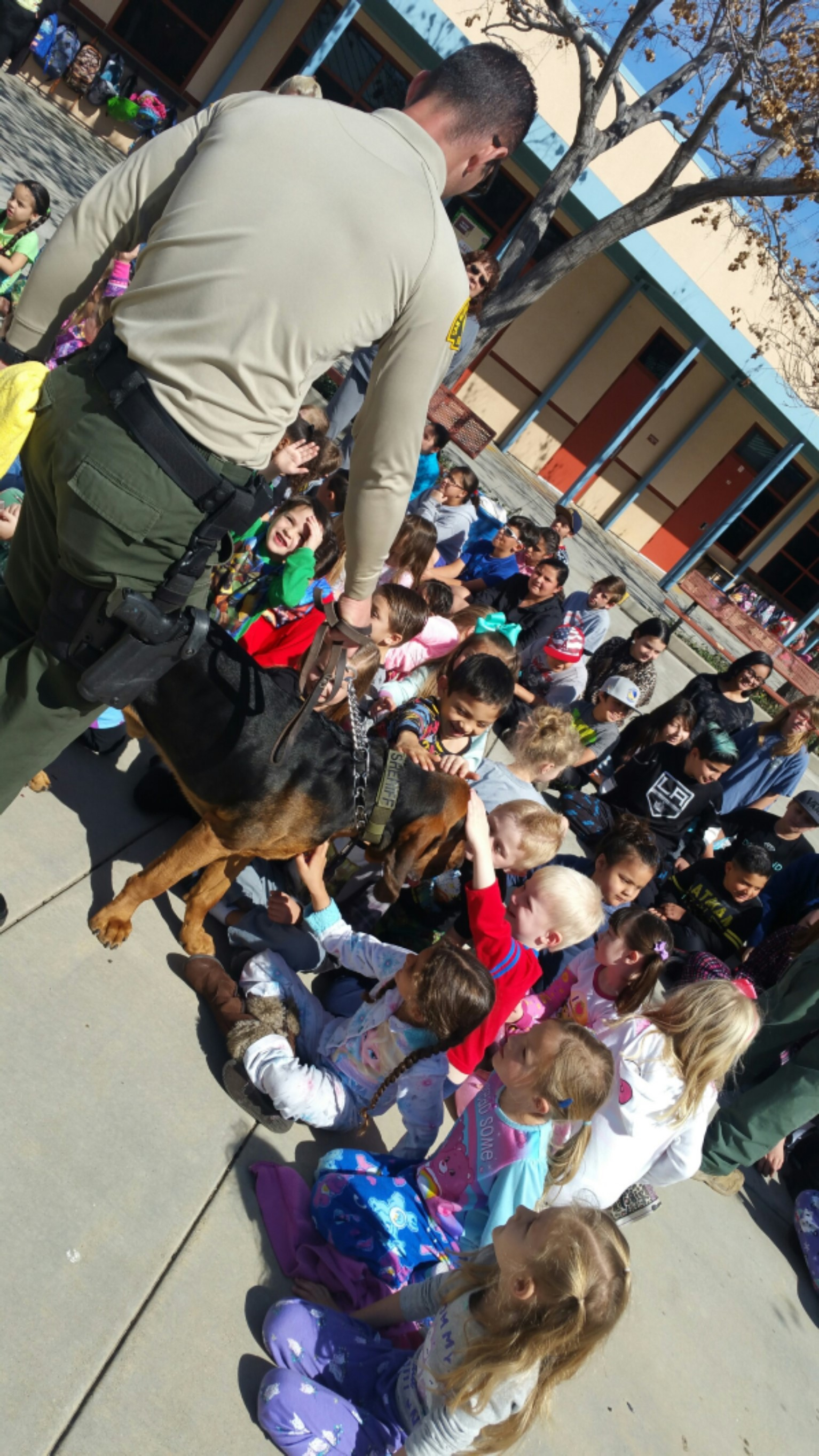 Police Dogs Visit Wildwood
