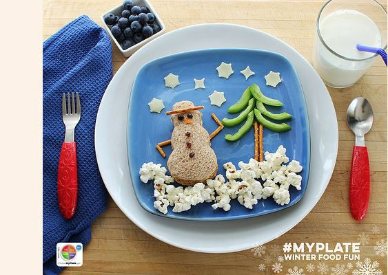 My Plate Snowman