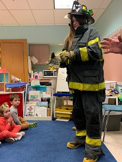 Fire Safety at Samoset Pre-K with Firefighter Rob