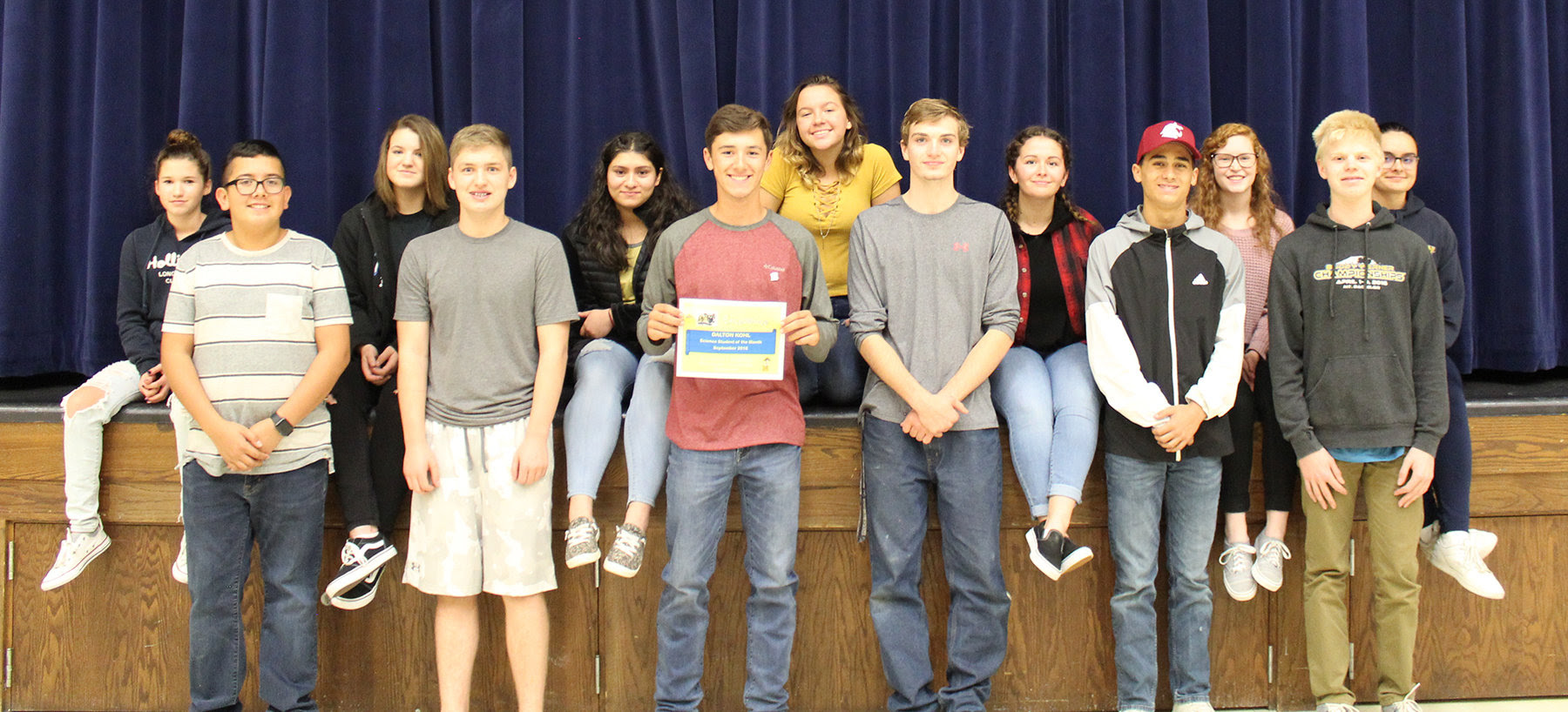 Middle School Students of the Month