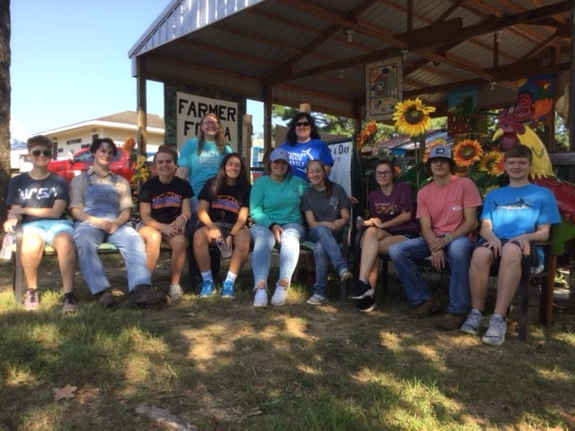 Shirley FFA Volunteer at Van Buren County Fair