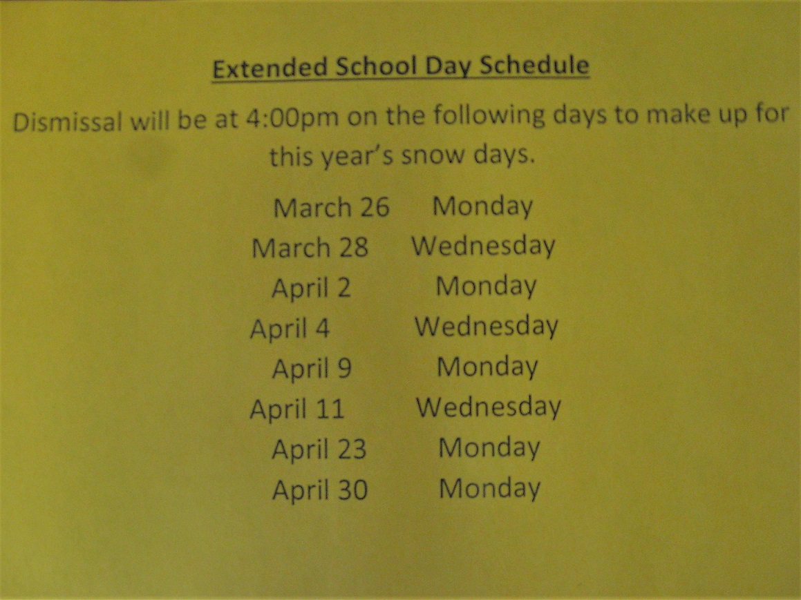 Extended Day Schedule