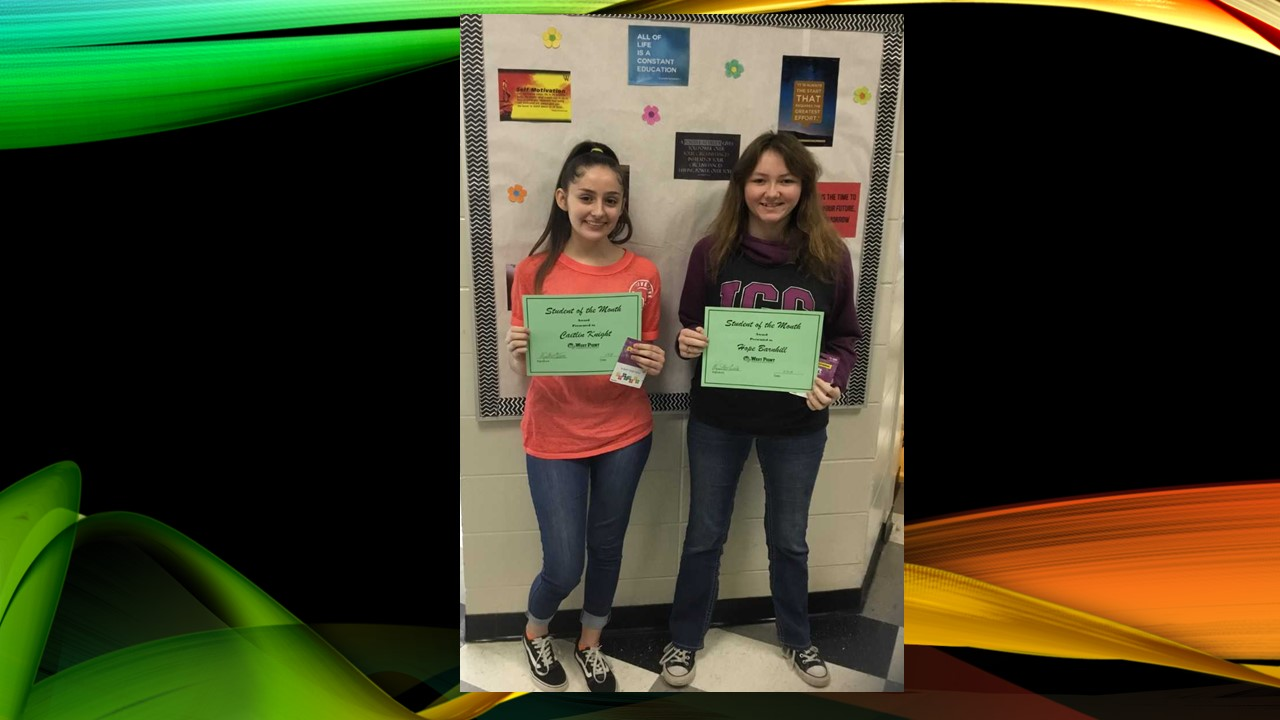 WPHS NORTH SHINING STARS FOR MARCH