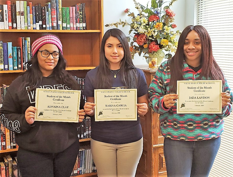 WPHS SOUTH SHINING STARS FOR FEBRUARY