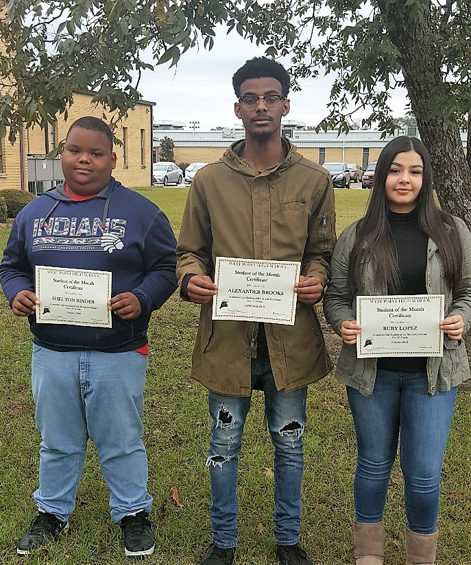 WPHS SOUTH SHINING STARS FOR OCTOBER