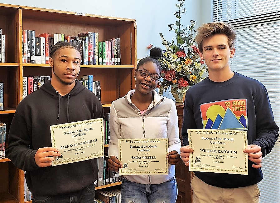 WPHS SOUTH SHINING STARS FOR JANUARY