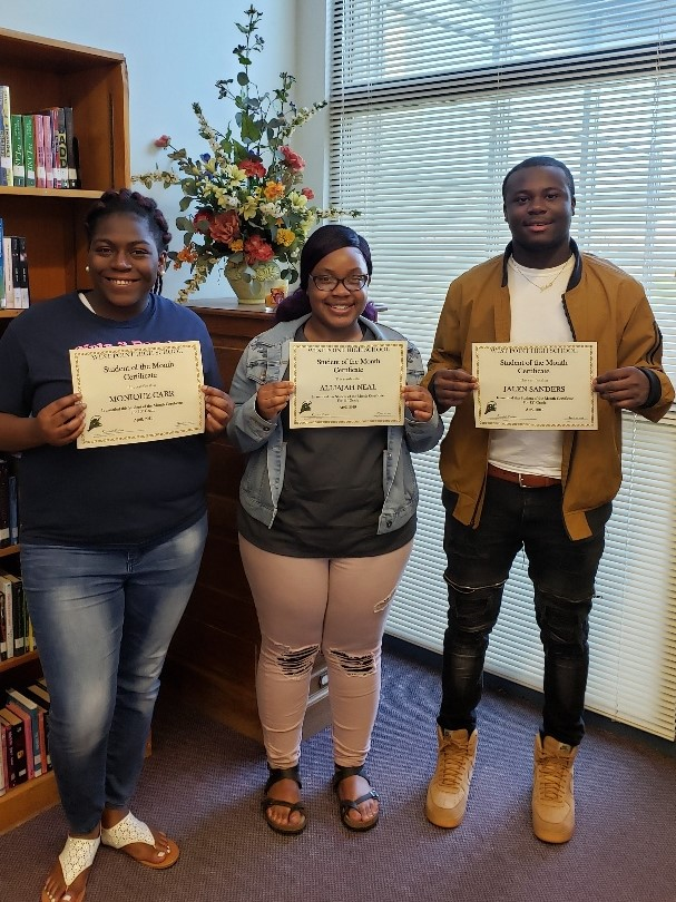 WPHS SOUTH SHINING STARS  FOR APRIL