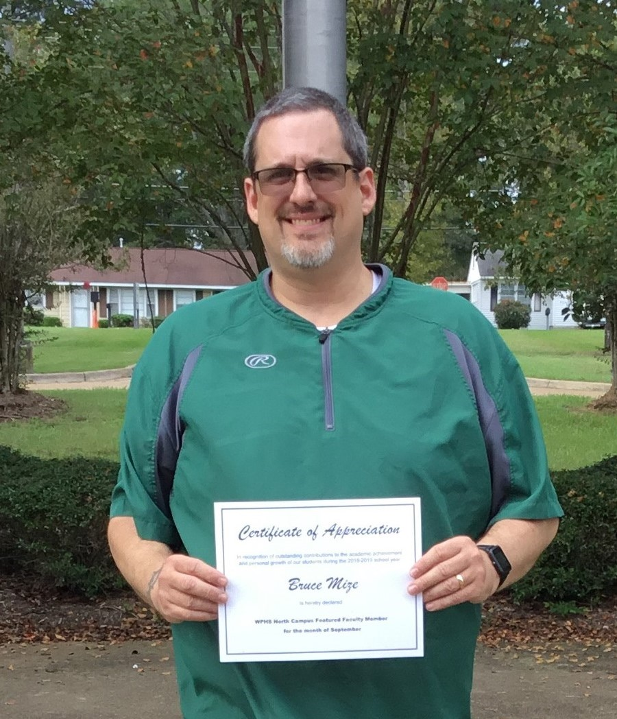 WPHS NORTH FEATURED FACULTY FOR SEPTEMBER