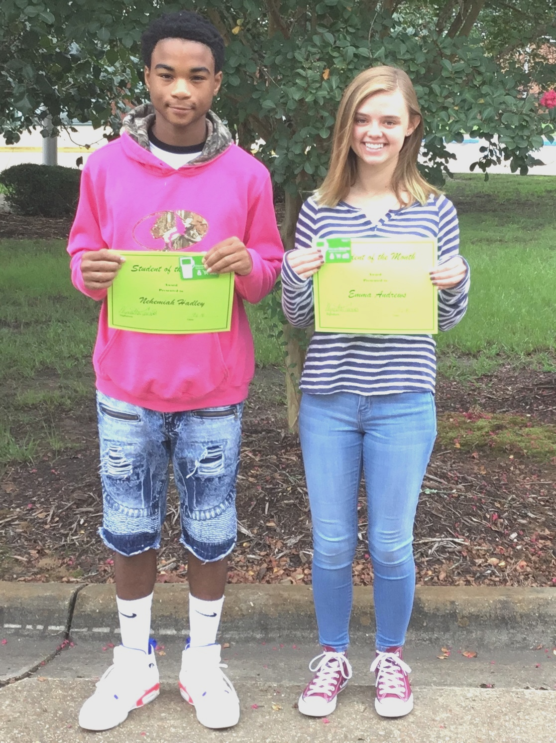 WPHS NORTH STUDENT'S OF THE MONTH FOR AUGUST