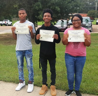 WPHS SOUTH STUDENT'S OF THE MONTH FOR AUGUST