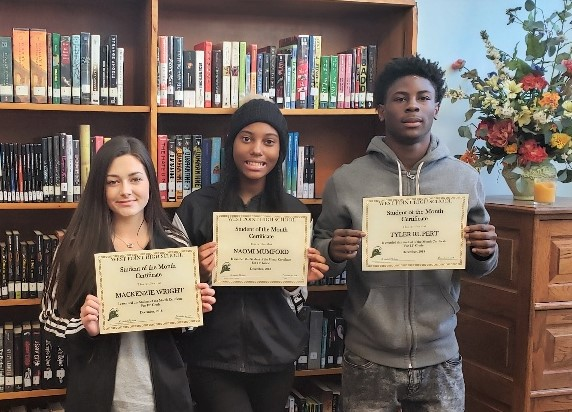 WPHS SOUTH SHINING STARS FOR DECEMBER