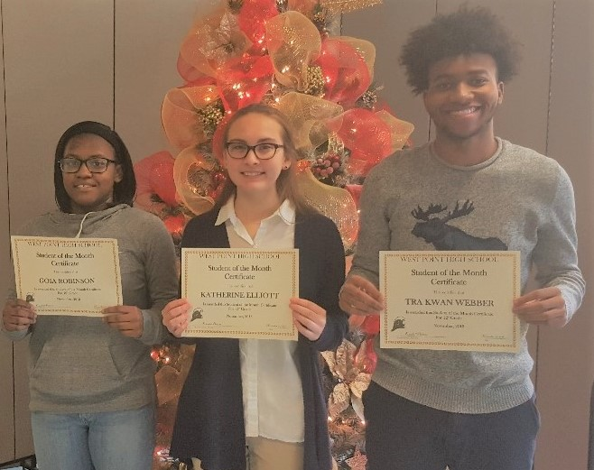 WPHS SOUTH SHINING STARS FOR NOVEMBER