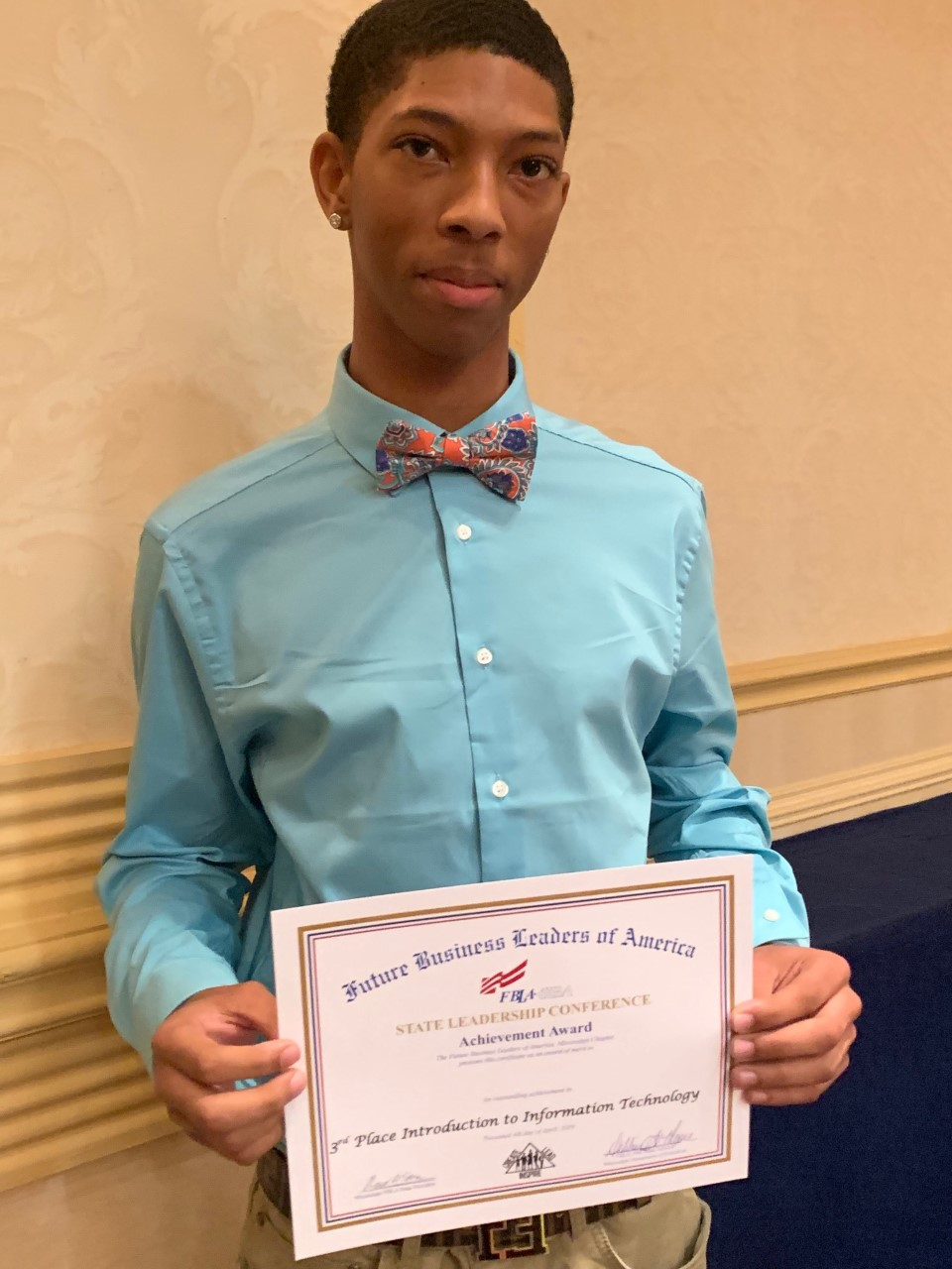 A WPHS Sophomore Placed Third at FBLA State Competition!