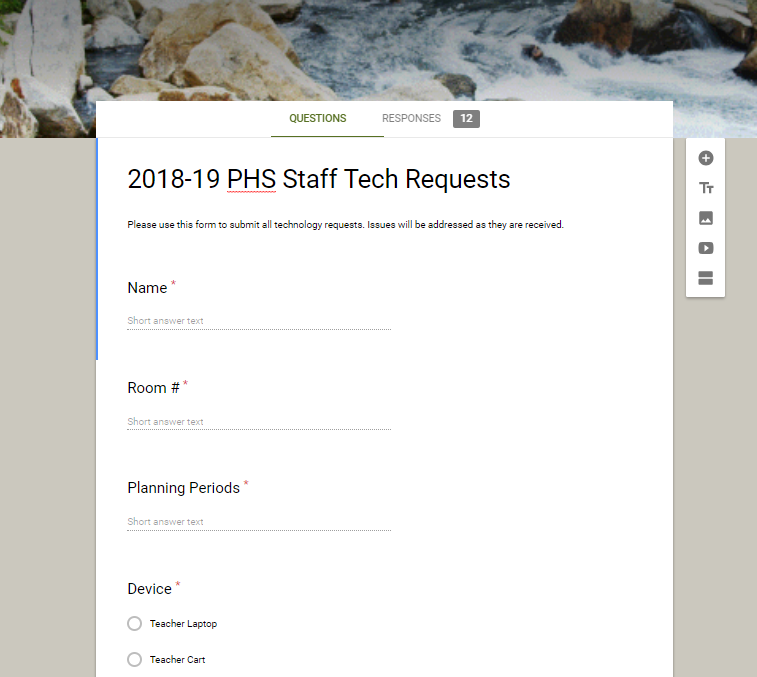 Teacher Tech Requests