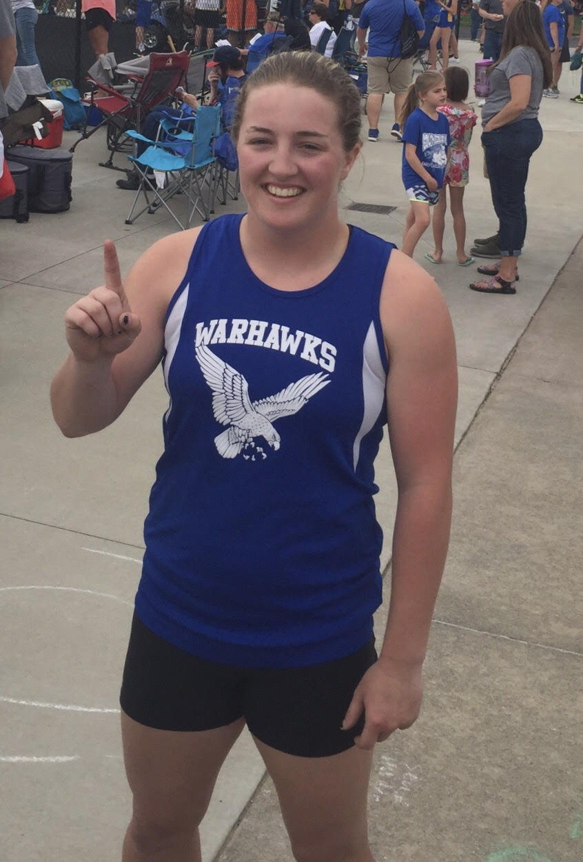 Callie is headed to State track!!!