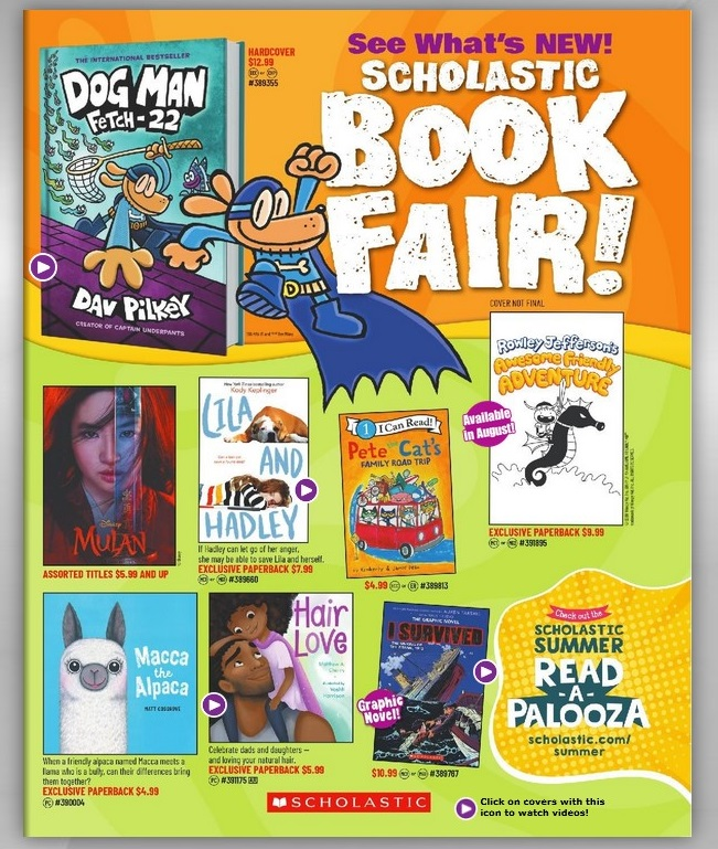 BOOK FAIR - ORDER APRIL 1ST-14TH - Just click here