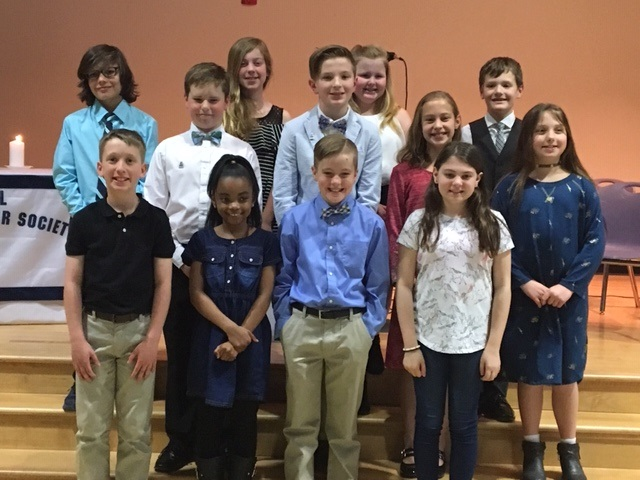 National Elementary Honor Society Inducted