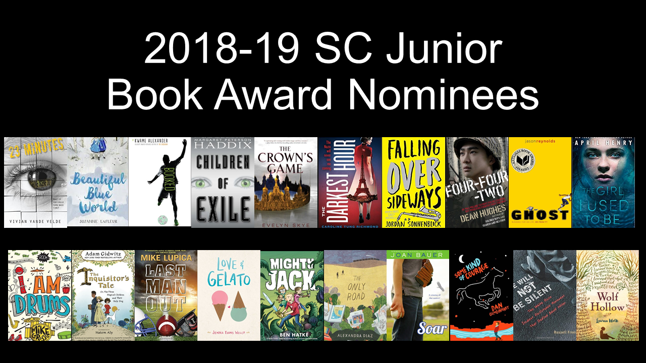 SC Junior Book Award Nominees