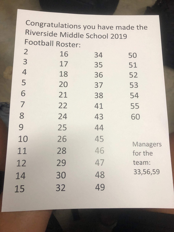 RMS Football Team