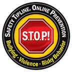 CLICK THE STOP SIGN TO REPORT BULLYING.